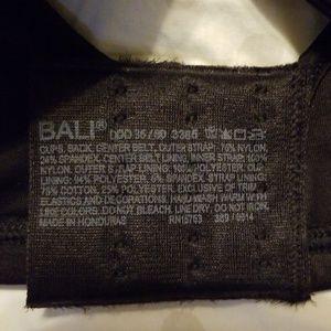 Bali Intimates & Sleepwear - NWT~Bali minimizing black Bra 36DDD